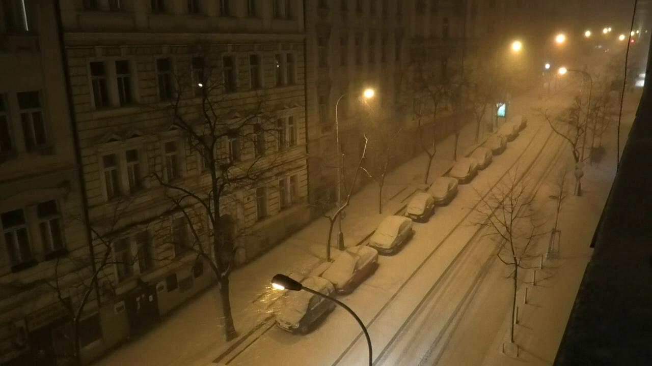 Prague Snow Storm