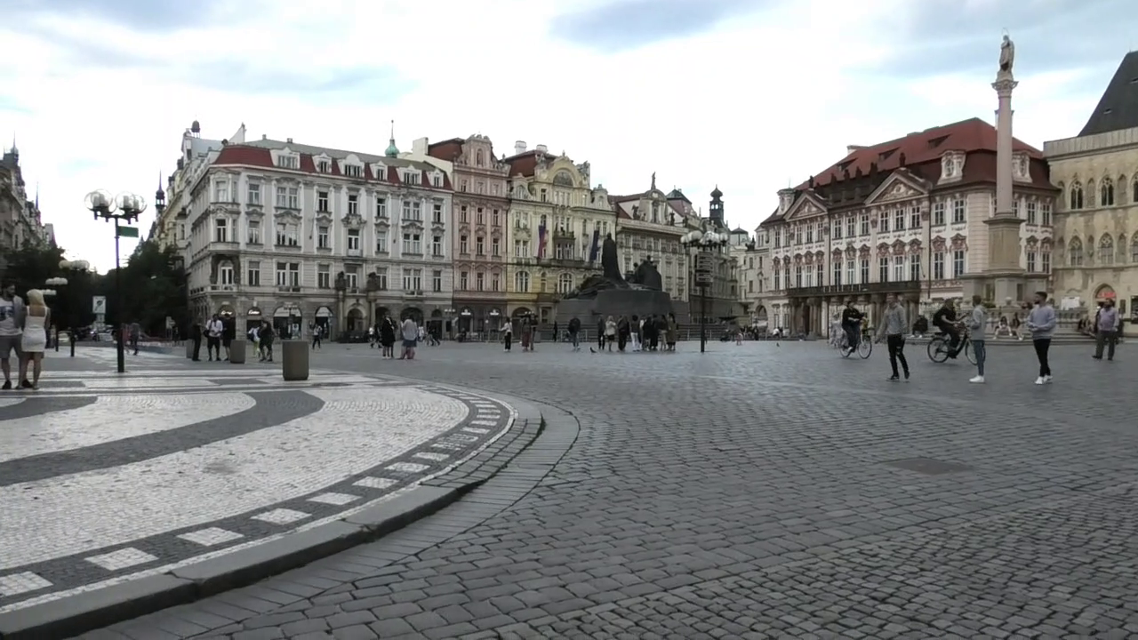 Walking Into Prague's Old Town Square